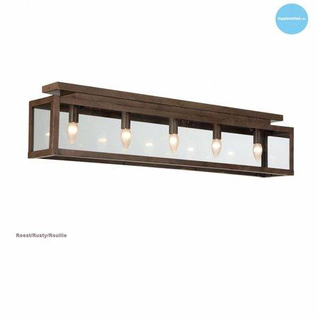 Landelijke plafondlamp glas beige, wit, lood, taupe, goud 100cm