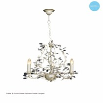 Lustre chandelier noir, rouille, beige, blanc, gris E14x3
