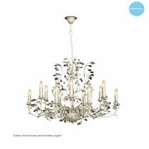 Oval pendant light chandelier several colours E14x12