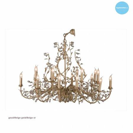 Hanglamp kroonluchter met kaarsen 7 kleuren E14x18