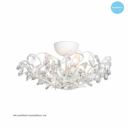 Klassieke plafondlamp zwart, roest, beige, wit, grijs E14x4