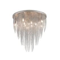 Plafondlamp kroonluchter grijs sierlijk G9x10 55cm Ø