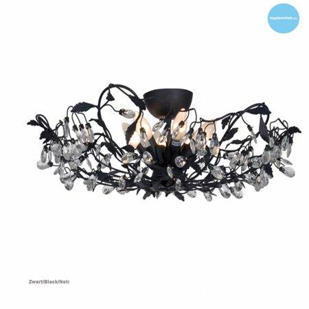 Plafonnier classique noir, blanc, rouille, beige, gris E14x6