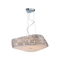 Crystal pendant light design chrome 65cm Ø G9x6