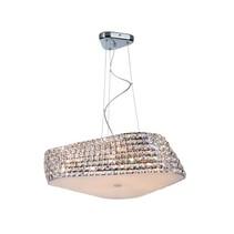 Kristallen hanglamp design chroom 65cm Ø G9x6