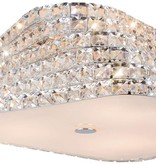 Crystal ceiling light design chrome 43 or 65cm Ø