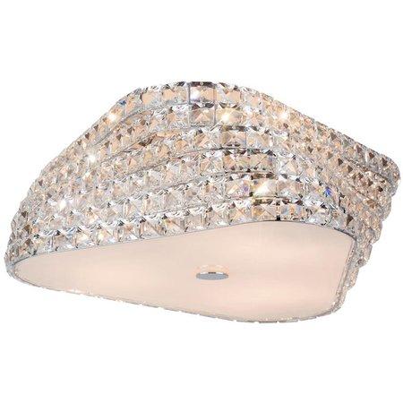 Plafondlamp kristal design chroom 43 of 65cm Ø