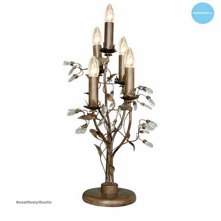 Lampe de table classique noire, blanche grise 5 bougies