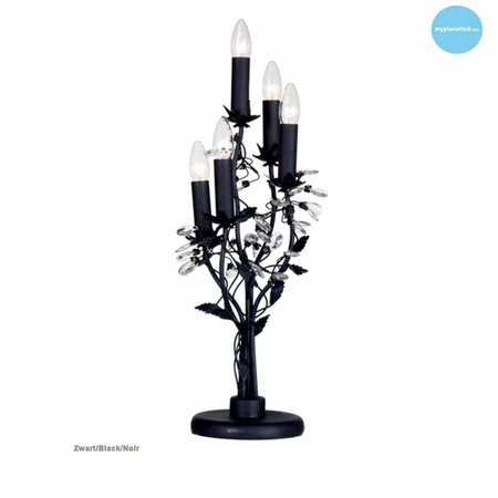 Chandelier table lamp 5 candle lights 7 colours