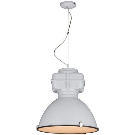 Industrial pendant light black, white concrete 50cm Ø