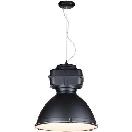 Lustre industriel noir, blanc, béton 50cm diamètre