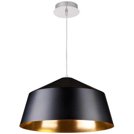 Vintage hanglamp zwart, wit met goud of zilver 56cm Ø