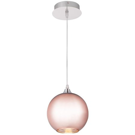 Copper globe pendant light 20, 25 or 30cm Ø