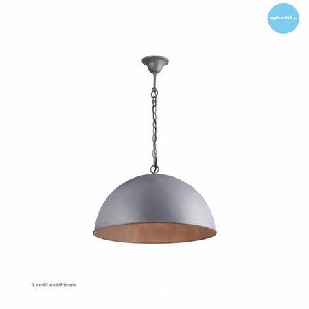 Hanglamp halve bol roest, grijs, taupe, lood 60cm Ø