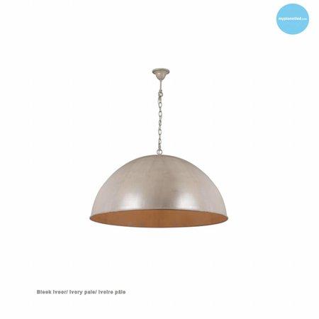 Dome pendant light rust, grey, taupe, lead 90cm Ø