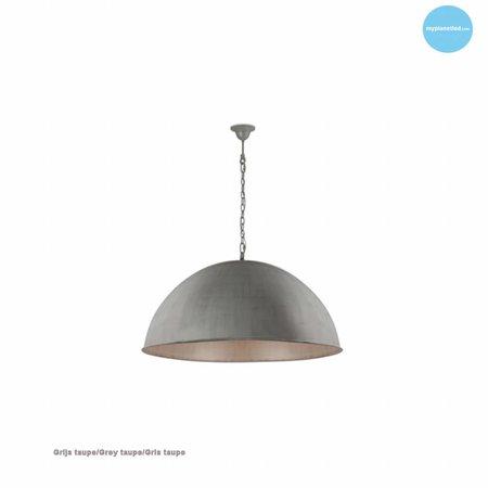 Hanglamp halve bol roest, grijs, taupe, lood 90cm Ø
