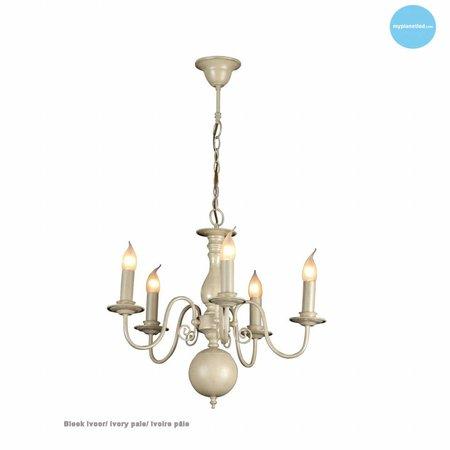 Lustre chandelier noir, blanc, beige, gris 60cm E14x5