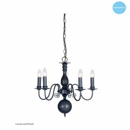 Chandelier pendant light black, white, beige, grey 60cm