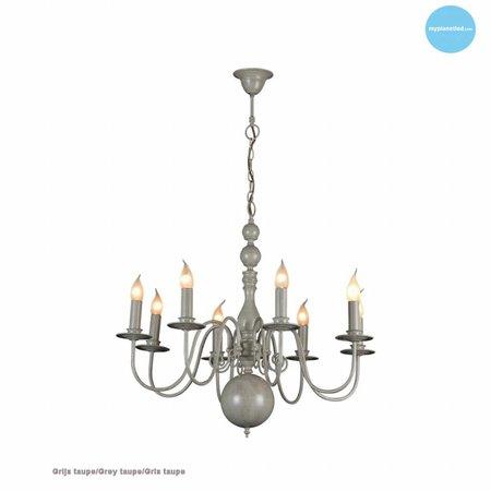 Chandelier pendant light white, black, grey 85cm E14x8