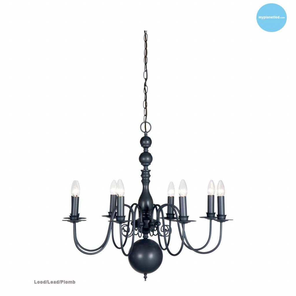 Wonderlijk Hanglamp kroonluchter zwart, wit, beige, grijs 85cm E14x8 RL-65