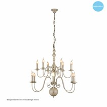 Chandelier pendant light white, black, grey E14x12 85cm