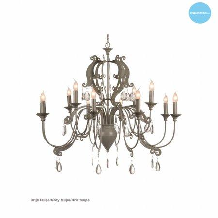 Hanglamp kroonluchter met kristal E14x12 105cm Ø