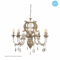 Chandelier pendant light with crystal E14x8 80cm Ø