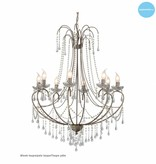 Big pendant light chandelier crystal E14x8 102cm high