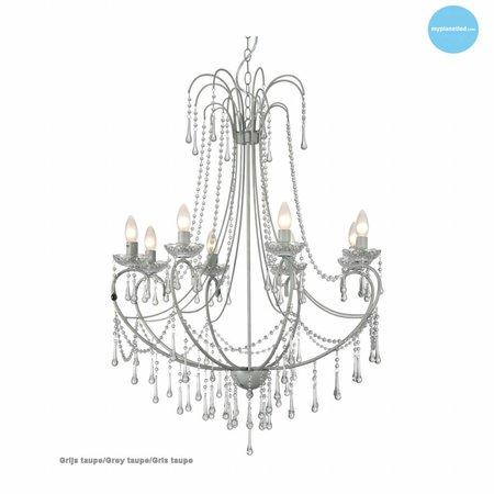Grand lustre chandelier cristal E14x8 102cm haut