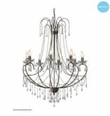 Grote hanglamp kroonluchter kristal E14x8 102cm H