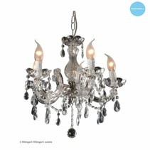 Glass pendant light crystal candle lights (5, 9 or 12x)