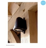 Wandlamp buiten landelijk brons-chroom-nikkel GU10 130mm