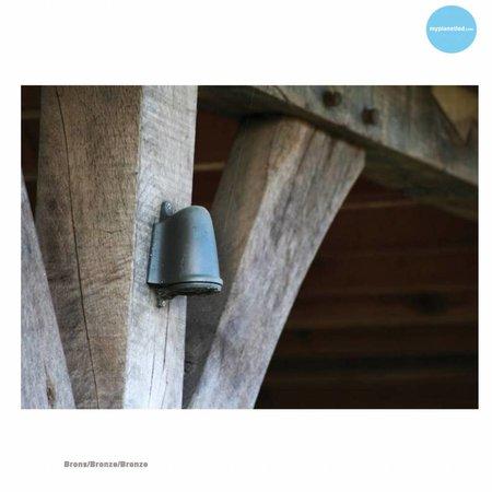 Outdoor wall light rural bronze-chrome-nickel GU10 130mm