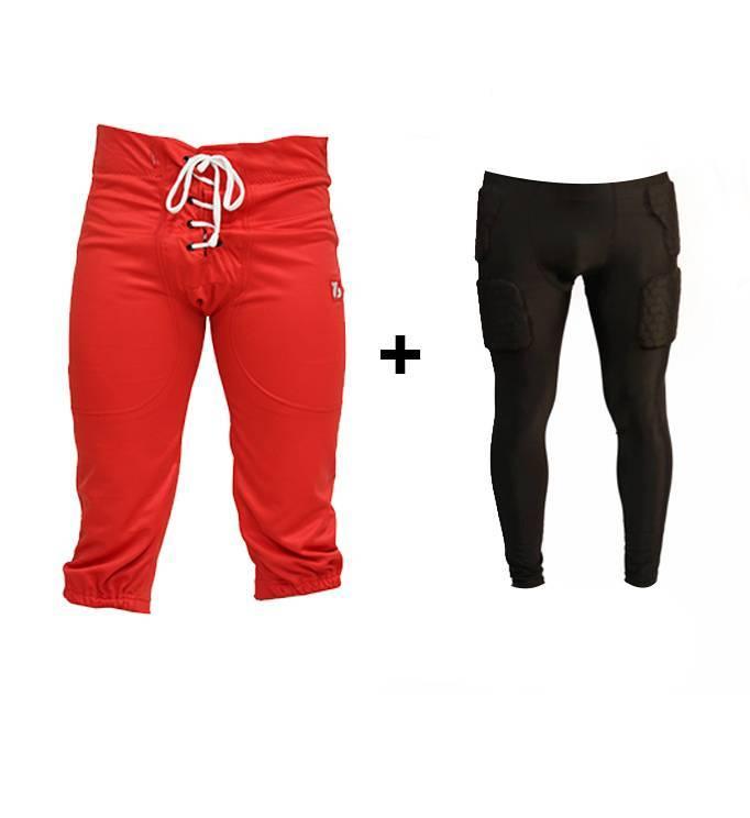 barnett PACK PROTECTIVE PANTS Kit  American Football Hosen + Kompressions Leggings (integrierte Schutz)