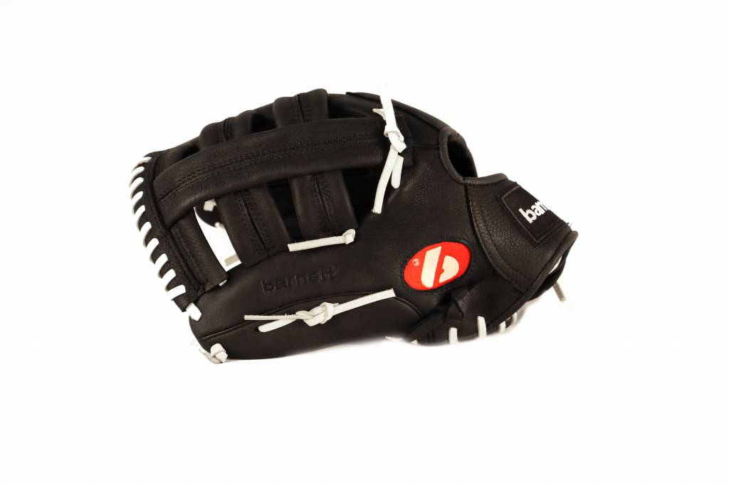 """barnett GL-130 Baseball Handschuh, Echtleder, Wettkampf, Outfield & Softball Größe 13"""" (inch), schwarz"""