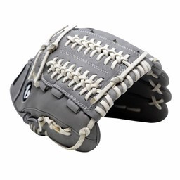"""FL-120 Baseballhandschuh aus hochwertigem Leder Infield / Outfield / Pitcher 12 """", grau"""