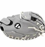 """FL-201""""hochwertiger Leder Baseballhandschuh Infield / Outfield / Pitcher, grau"""