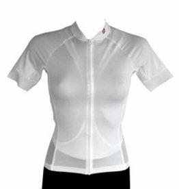 barnett Fahrradbekleidung -  Kurzarmtrikot  Weiss