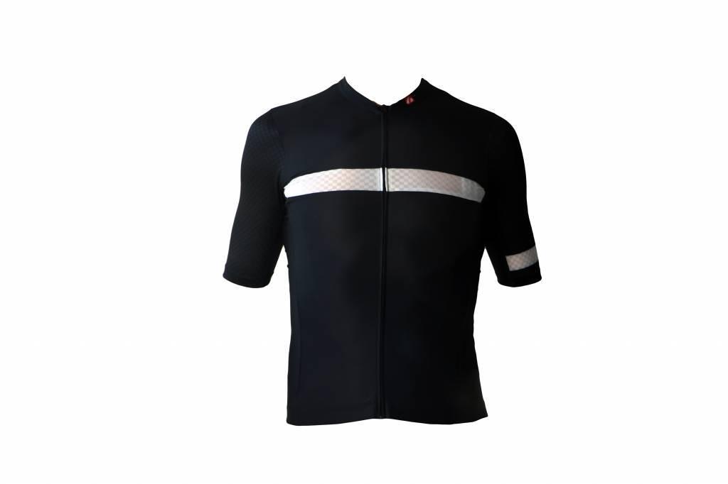 Fahrradbekleidung -  Kurzarmtrikot Herren schwarz & weiß