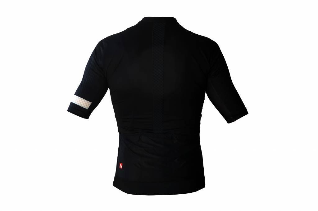 Bike textile-Kurzarm jersey, schwarz & weiß