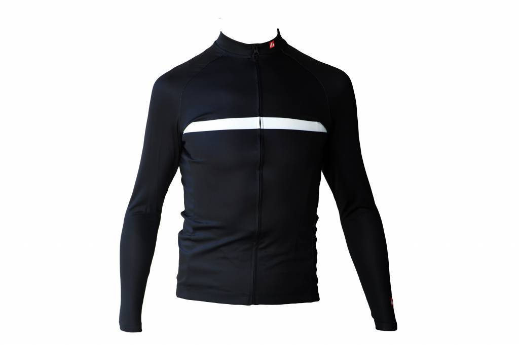 Bike textile-Langarm Jersey, schwarz & weiß