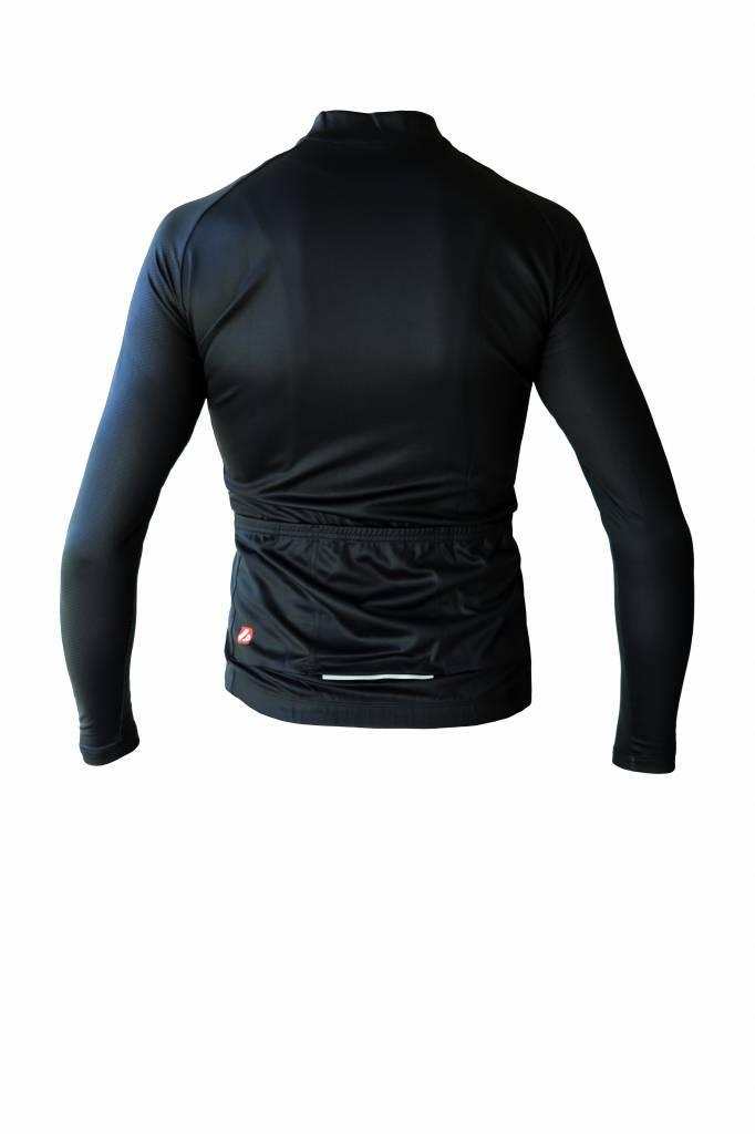Fahrradbekleidung - Langarmtrikot Schwarz und Weiss