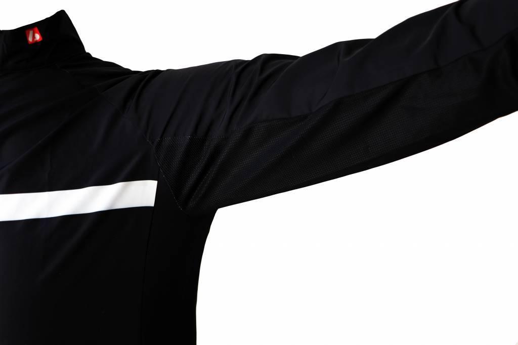 Textil-Fahrrad-Jacke lange ärmel, schwarz-weiß-Windschutzscheibe