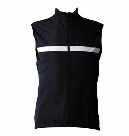 Textil-Fahrrad-Weste Windschutzscheibe ohne ärmel schwarz-weiß