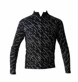Textil-Fahrrad-Jacke lange ärmel, Windschutzscheibe schwarz