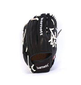 """barnett GL-125 Baseball Handschuh, Echtleder, Wettkampf, Outfield & Softball Größe 12,5"""" (inch), schwarz"""