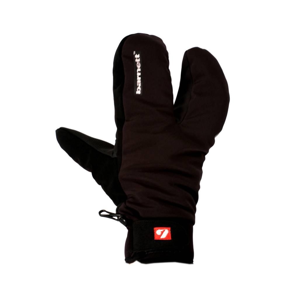 barnett NBG-09 Softshell Skihandschuhe, Fäustlinge mit 3 Fingern, für Temperaturen zwischen -5° und -20°C