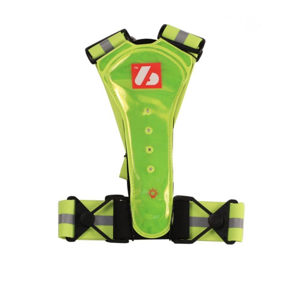barnett LW-1 Neongelbe Leuchtweste mit LED und Reflektoren, Training Running Trail
