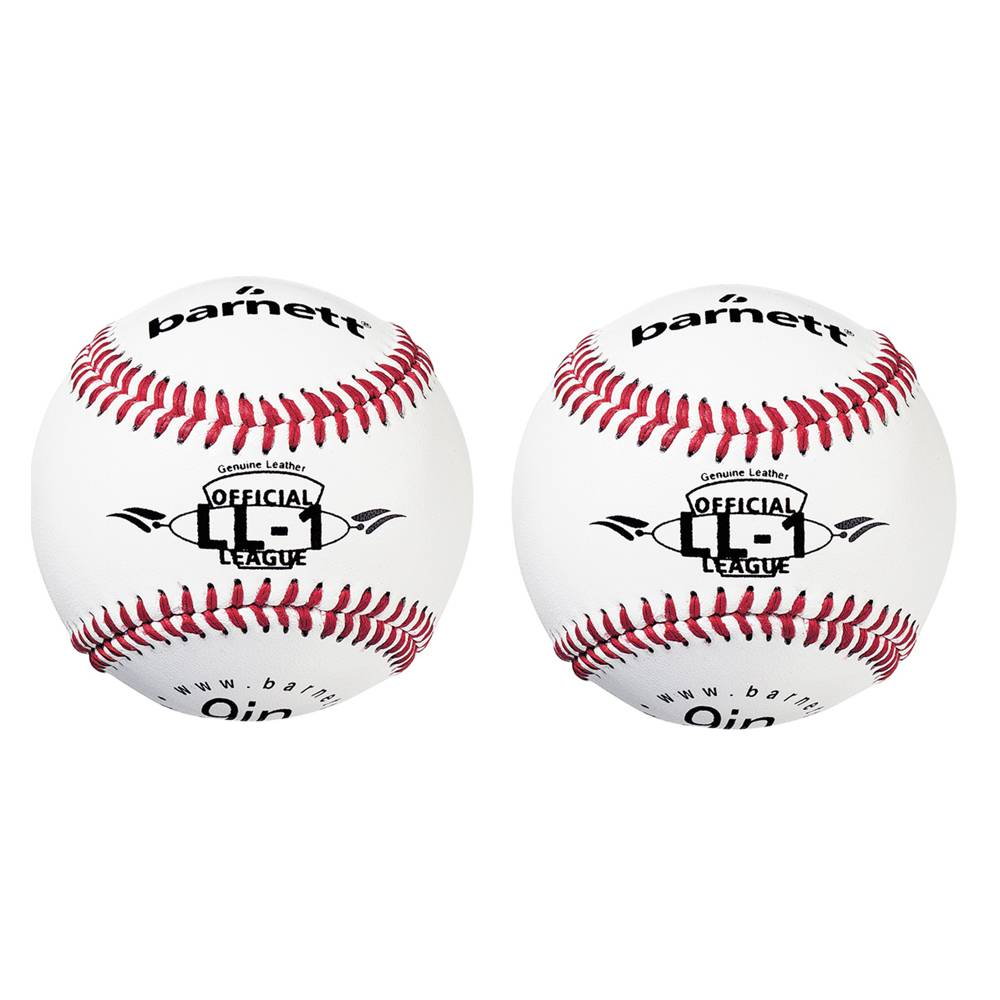 "barnett LL-1 Baseball Ball Wettkampf und Training, Größe 9"" (inch), Farbe weiß, 2 Stück"