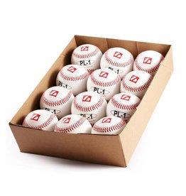 "barnett PL-1 Baseball Ball Match Elite, Wettkampf Profi, Größe 9"" (inch), Farbe weiß, 12 Stück (1 Dutzend)"